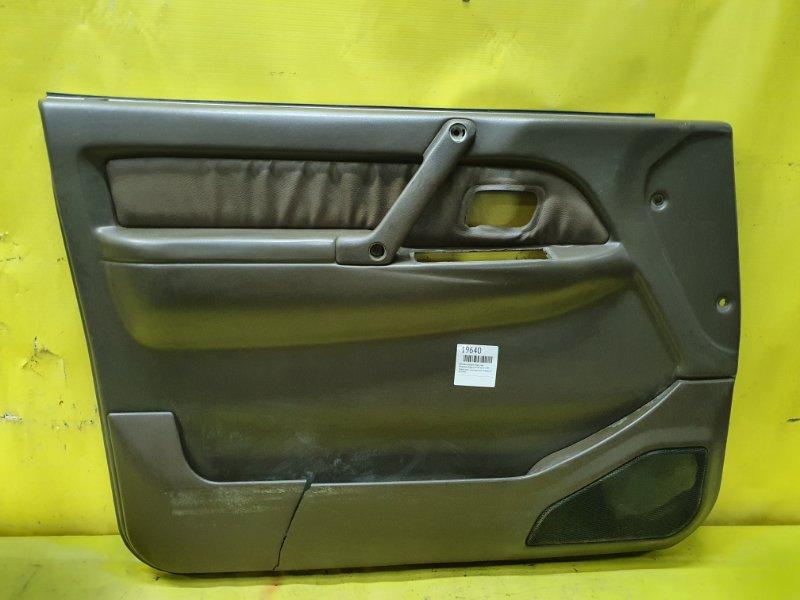Обшивка дверей Mitsubishi Pajero V45W 6G74 1995 передняя левая
