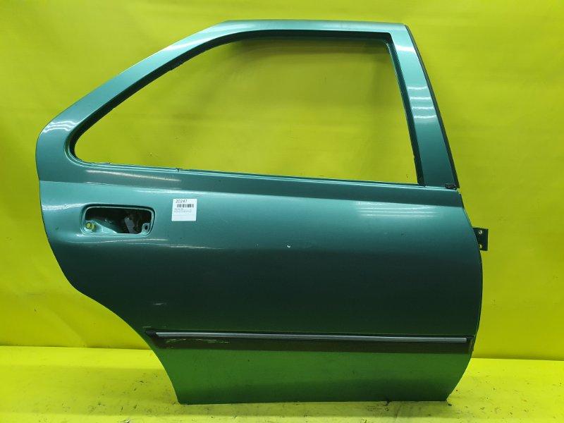 Дверь Peugeot 406 8B PSA6FZ10LT 2001 задняя правая