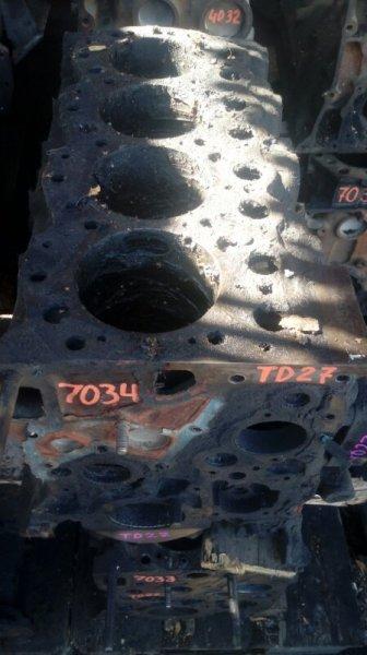 Блок двигателя Nissan Atlas TD27