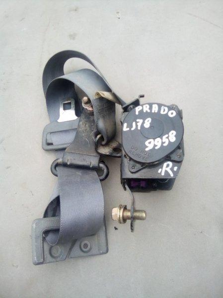 Ремень безопасности Toyota Land Cruiser Prado LJ78 2LT правый