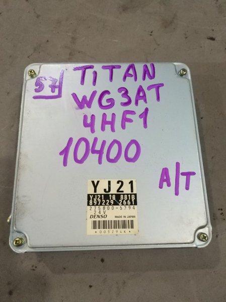 Блок управления Mazda Titan WG3AT 4HF1 2000