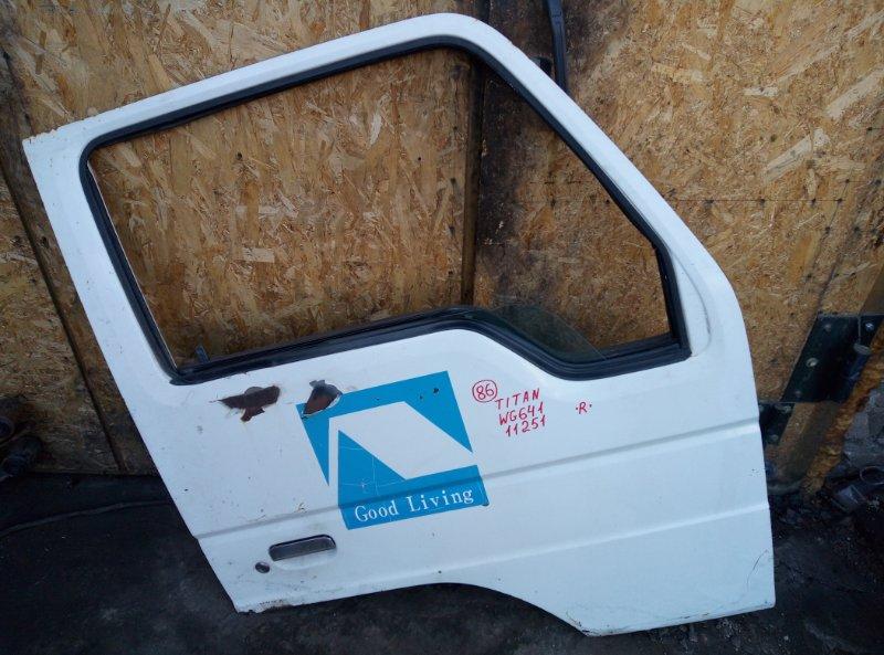 Дверь Mazda Titan WG64T 4HG1 1998 передняя правая