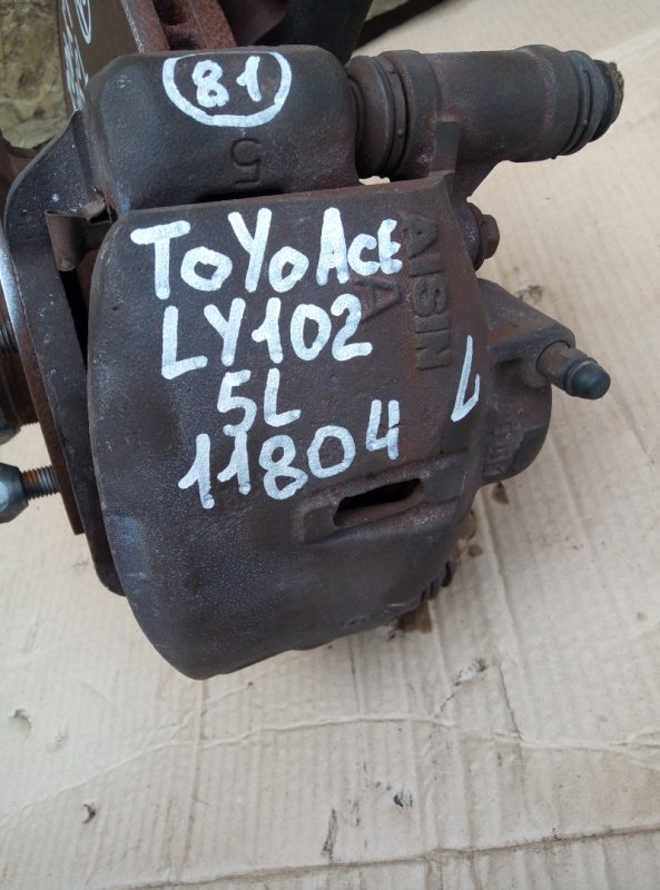 Тормозной суппорт Toyota Toyoace LY102 5L 2000 передний левый