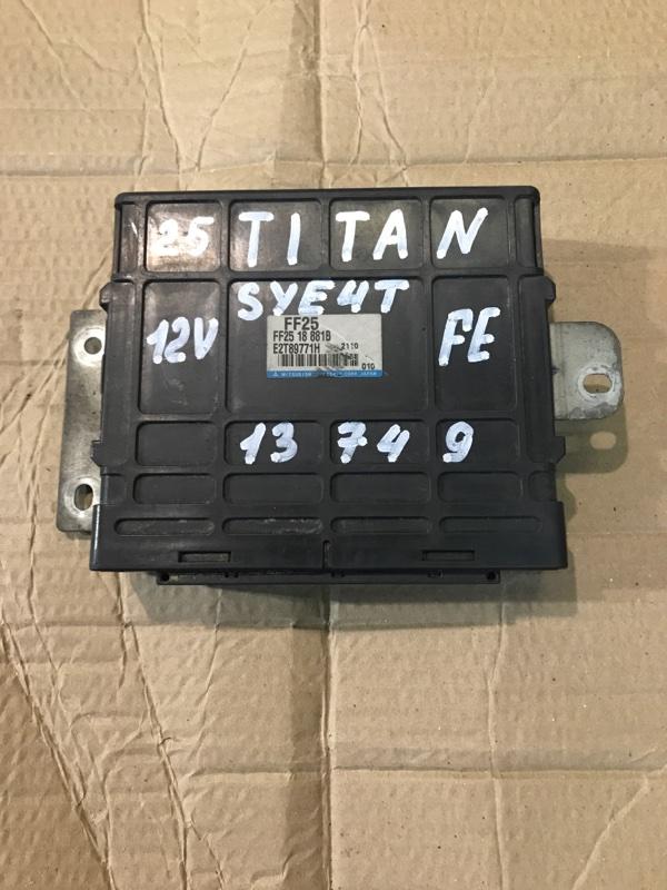 Блок управления двс (компьютер) Mazda Titan SYE4T FE 2002