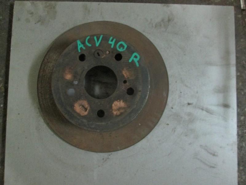 Диск тормозной Toyota Camry ACV40 2AZ-FE 2007 задний