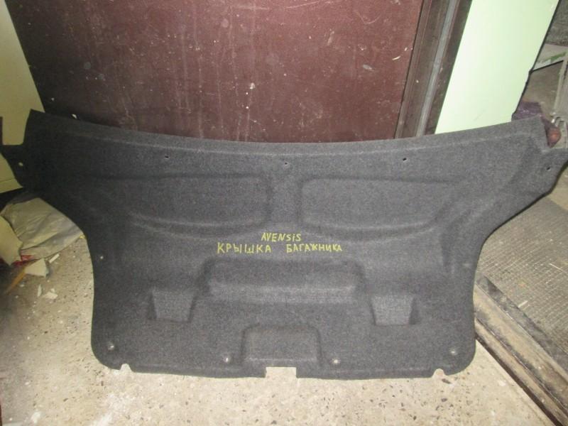 Обшивка крышки багажника Toyota Avensis ZZT251 1ZZ-FE 2004 задняя