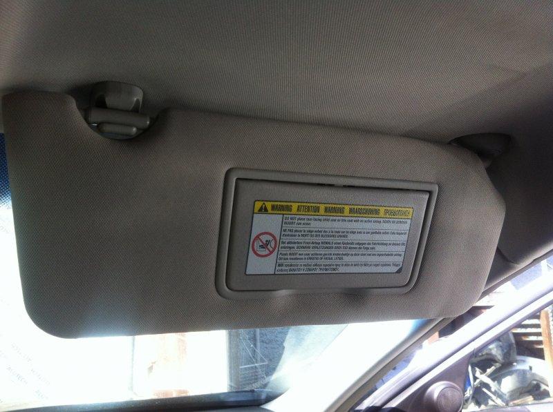 Козырек солнцезащитный Honda Accord CU2 K24Z3 2009 правый