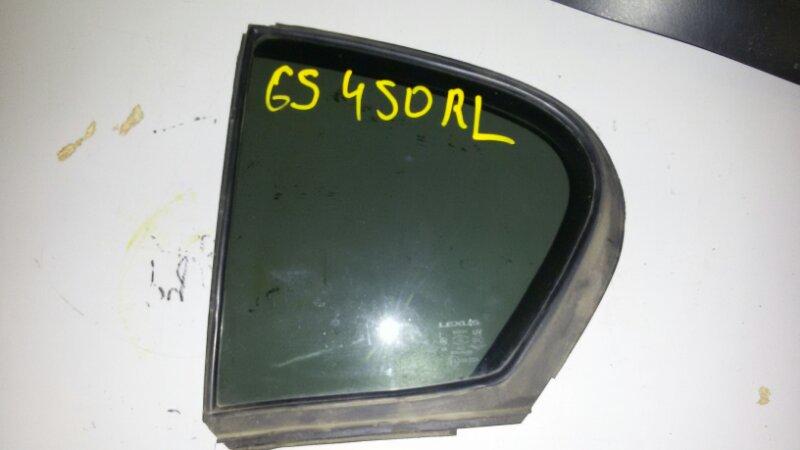 Форточка двери Lexus Gs450H GWS191 2GR-FSE 2008 задняя левая