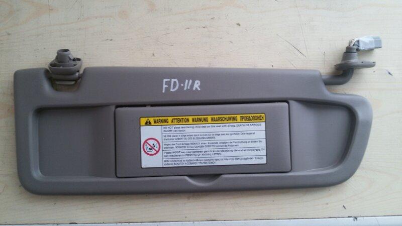 Козырек солнцезащитный Honda Civic FD3 LDA2 2011 передний правый