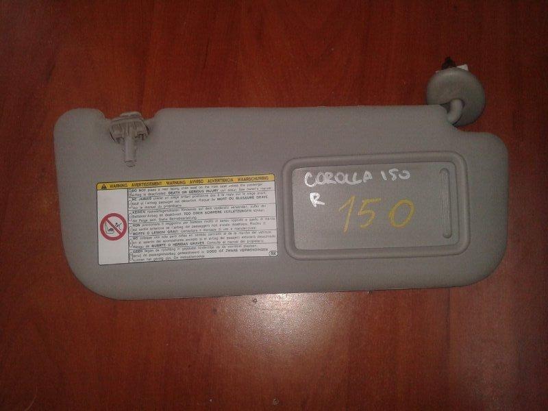 Козырек солнцезащитный Toyota Corolla E150 1NR-FE 2013 передний правый