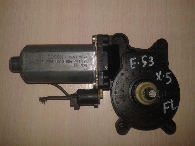 Моторчик стеклоподъемника Bmw X5 E53 M62B44TU 2001 передний левый