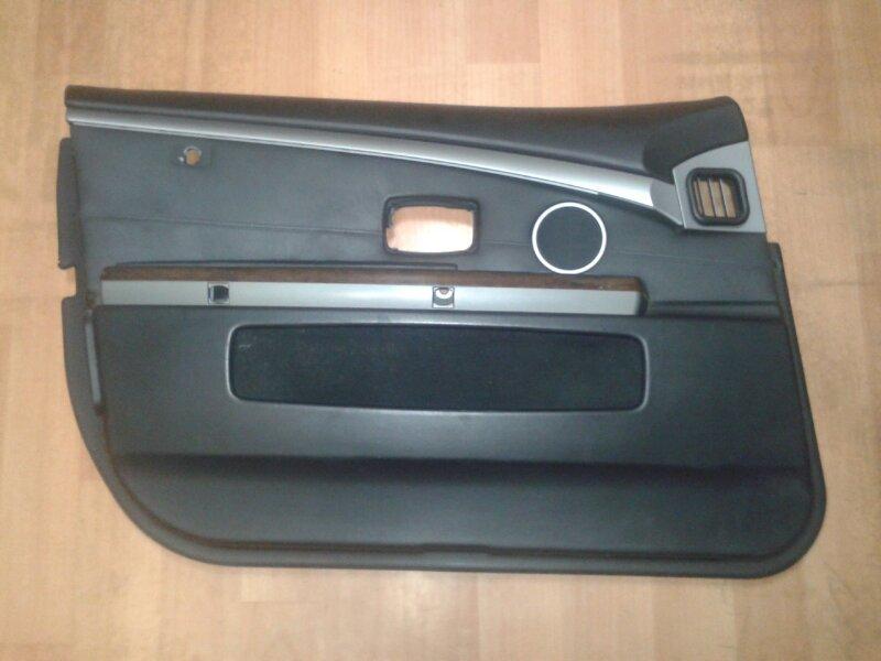 Обшивка двери Bmw 7-Series E65 N62B44A 2003 передняя левая
