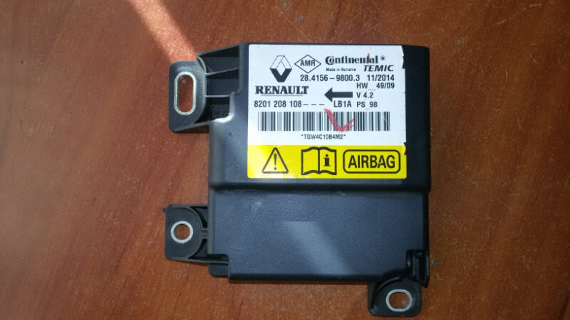 Эбу air bag Nissan Almera G15 K4M, 1,6 2014
