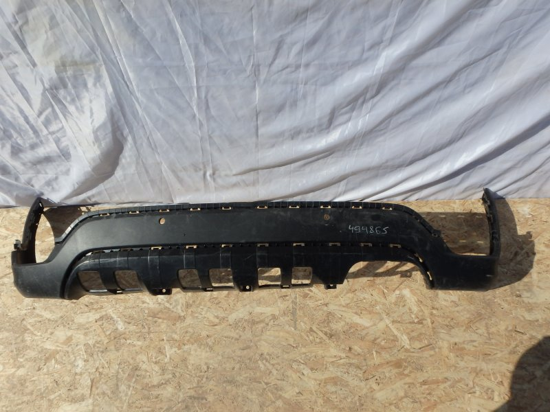 Накладка на бампер Kia Rio FB G4FG, G4LC 2019 задняя нижняя