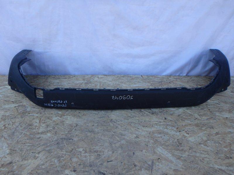 Накладка на бампер Bmw X1 F48, F49 B38A15M0, B47D20, B48A20M0, B48B20 2015 задняя нижняя