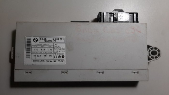 Блок управления двс Bmw 3-Series E90 N52B25 2006