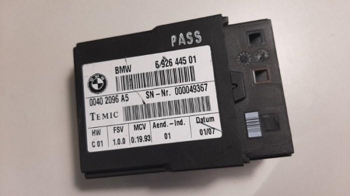 Блок управления сидением Bmw 5-Series E60 N52B25A 2007 передний