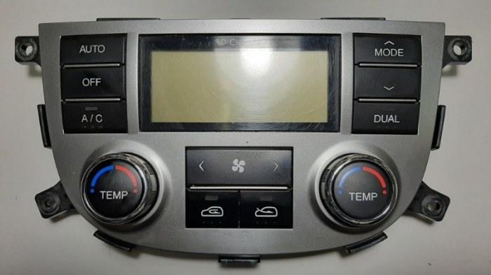 Блок управления климат-контролем Hyundai Santa Fe CM G4KE, 2.4L 2010 передний