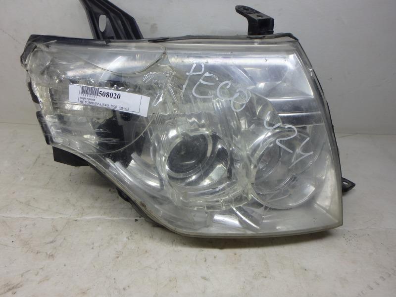 Фара Mitsubishi Pajero V83W, V85W, V87W, V88W, V93W, V97W, V98W 4M40, 4M41, 6G72, 6G74, 6G75 2008 передняя правая