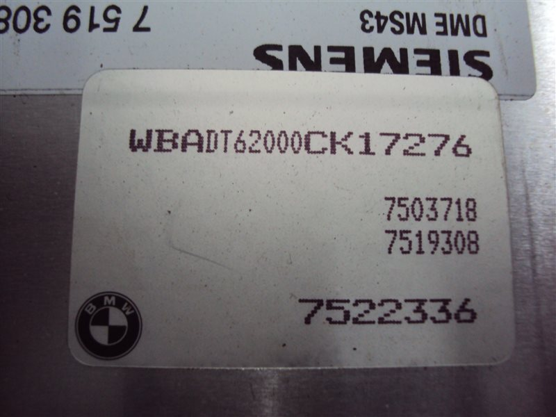 Блок управления двигателем Bmw 5-Series E39 306S3 M54 2002