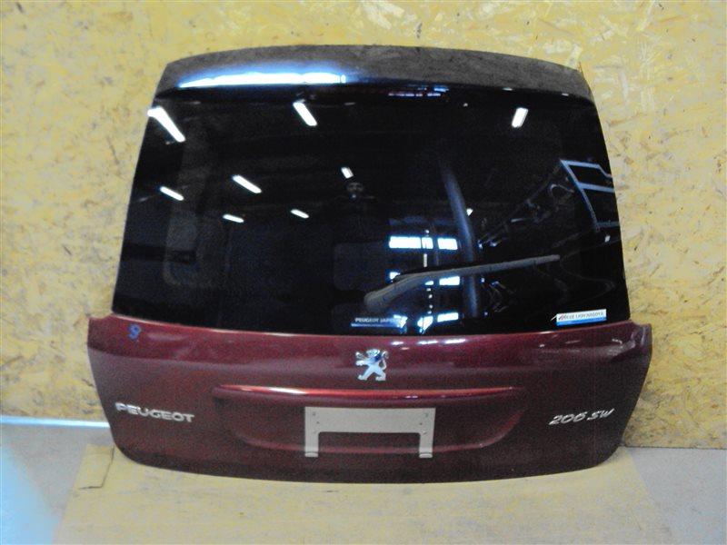 Крышка багажника Peugeot 206 2EKNFU NFU10FX7PPSA 2005 задняя