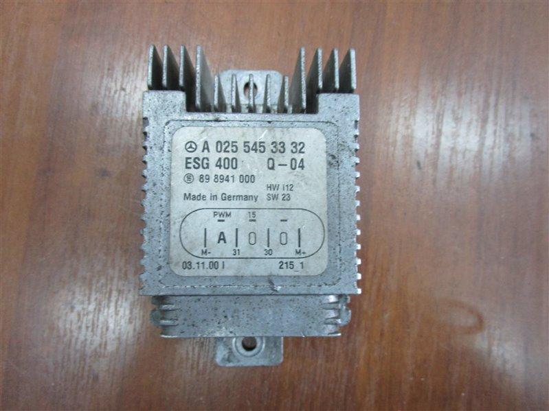 Блок управления вентилятором Mercedes-Benz Slk R170 111.983 2000