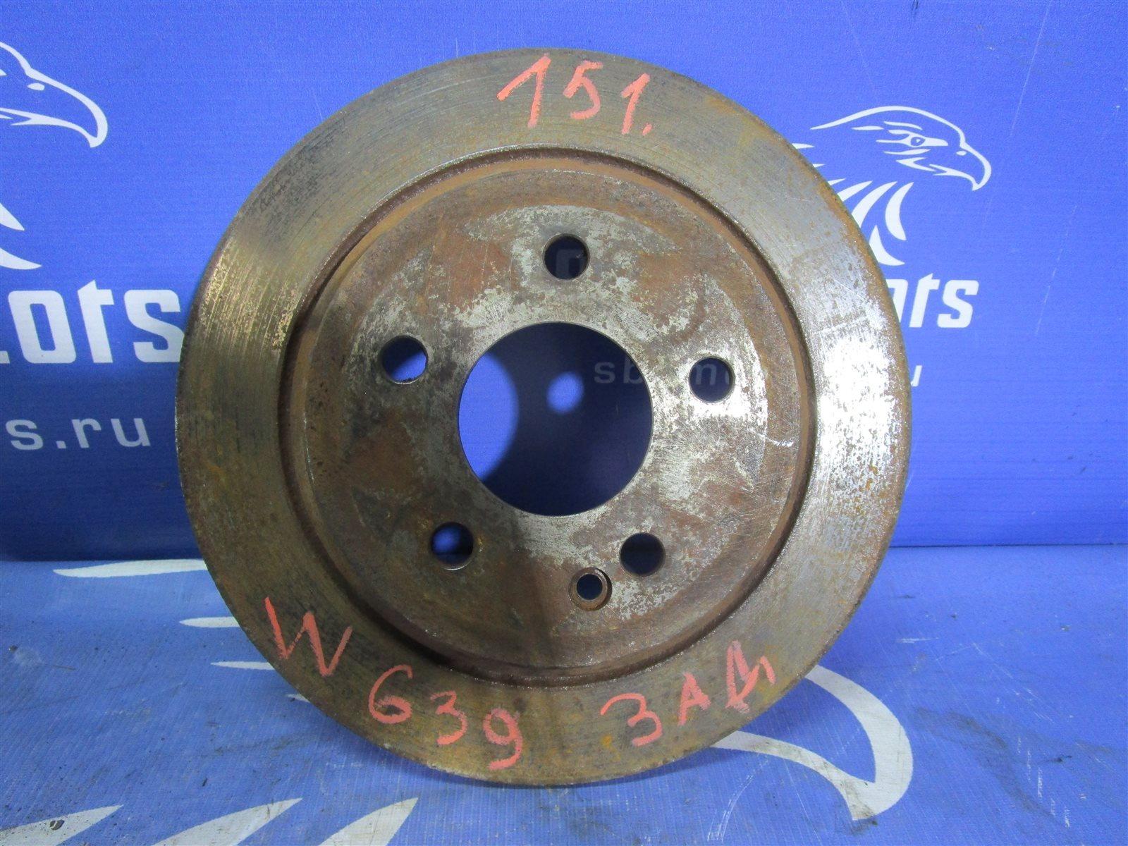 Тормозной диск Mercedes-Benz Vito W639 646982 2005 задний
