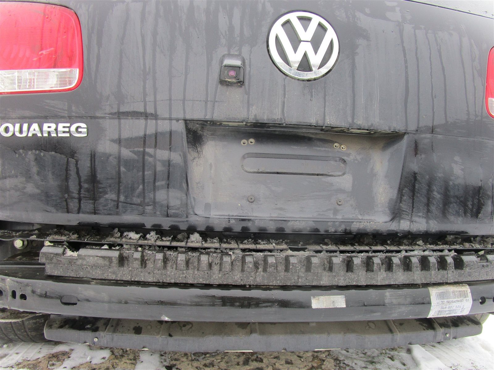 Усилитель бампера Volkswagen Touareg 7LA / 7L6 / 7L7 2006 задний