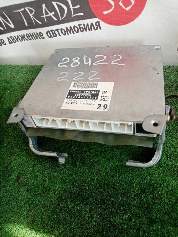 Блок efi Toyota Allex ZZE123 2ZZ-GE
