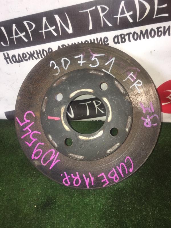 Диск тормозной Nissan Cube BNZ11 CR14DE передний