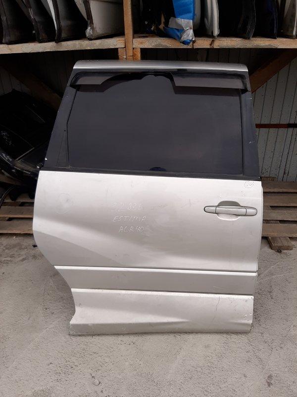 Дверь Toyota Estima ACR40 2AZ-FE задняя правая