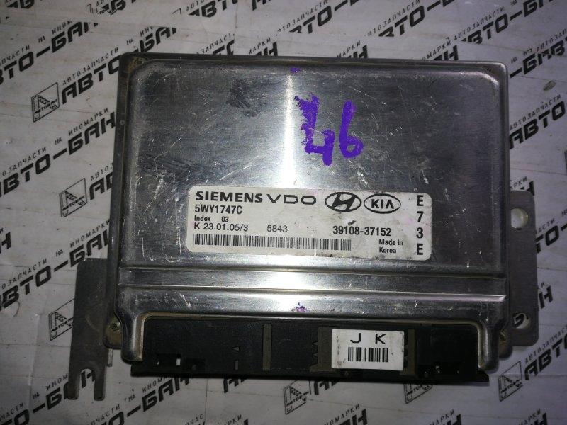 Блок управления двигателем Hyundai Sonata EF G6BA 2007