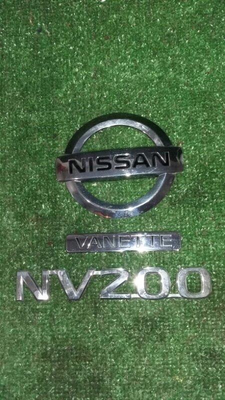 Эмблема Nissan Nv200 VM20 HR16DE 2009
