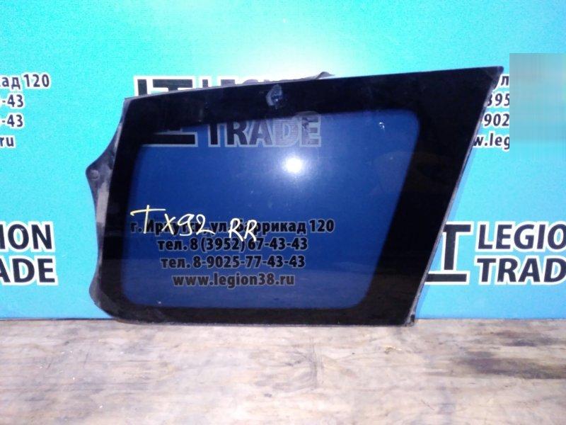 Стекло собачника Suzuki Grand Escudo TX92W H27A 2002.06 заднее правое