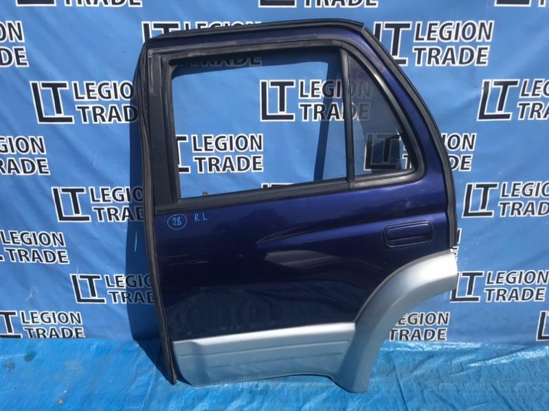 Дверь Toyota Hilux Surf KZN185 1KZTE 1996.10 задняя левая