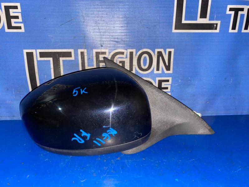 Зеркало Nissan Bluebird Sylphy KG11 MR20DE переднее правое