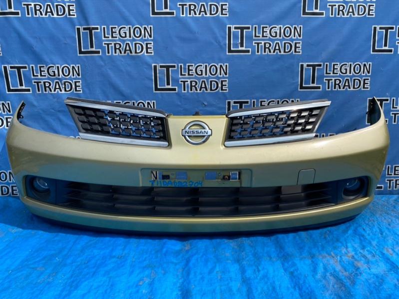Бампер Nissan Tiida Latio SC11 передний