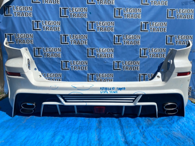 Бампер Toyota Alphard ATH10 2AZFXE задний
