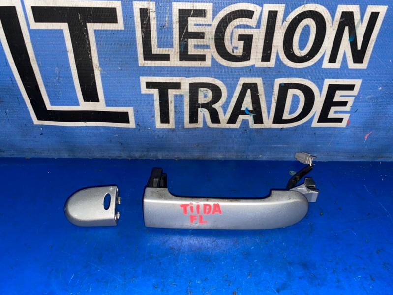 Ручка двери внешняя Nissan Tiida C11 передняя левая