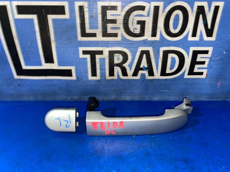 Ручка двери внешняя Nissan Tiida C11 задняя левая