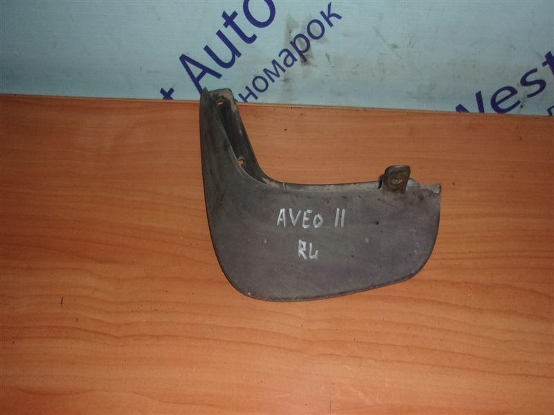 Брызговик Chevrolet Aveo T250 F14D4 03.01.2011 задний левый