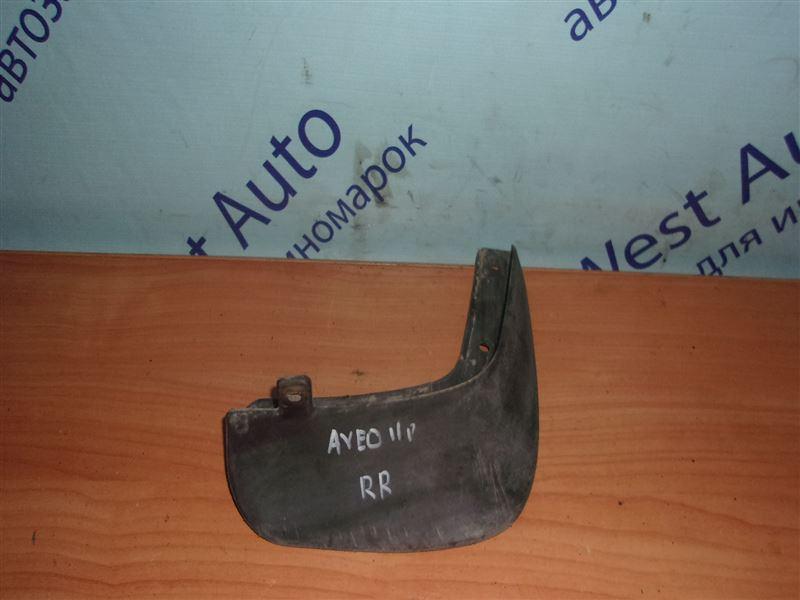 Брызговик Chevrolet Aveo T250 F14D4 03.01.2011 задний правый