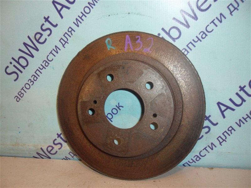 Тормозной диск Nissan Maxima A32 VQ30DE 1997 задний
