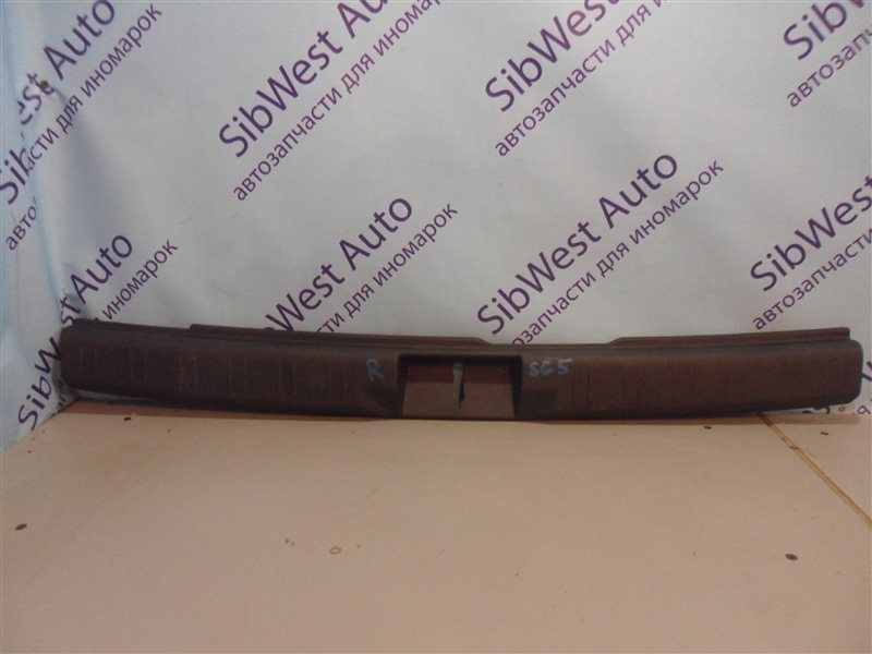 Накладка замка багажника Subaru Forester SG5 EJ202 2002 задняя