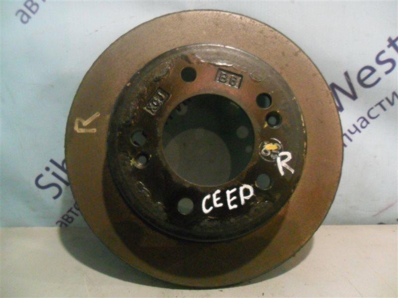 Тормозной диск Kia Cee'd JD G4FG 2014 задний