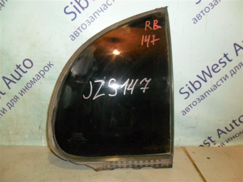 Форточка двери Toyota Aristo JZS147 2JZGE 1996 задняя правая