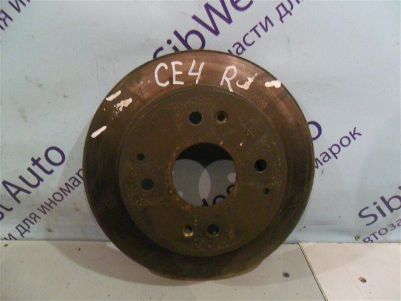 Тормозной диск Honda Ascot CE4 G20A 1994 задний
