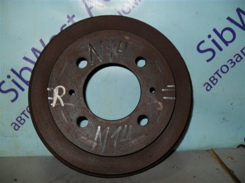 Тормозной барабан Nissan Sunny N14 GA14DS 1992 задний