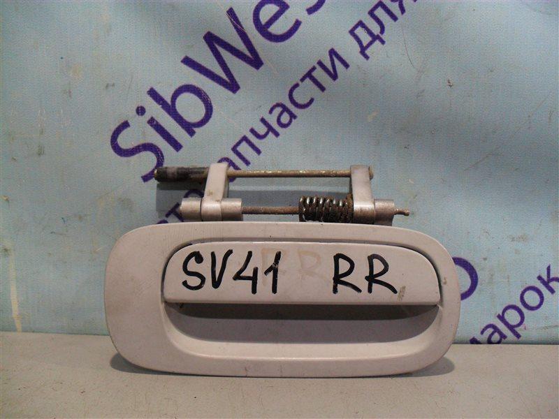 Ручка двери внешняя Toyota Camry SV41 3S-FE 1995 задняя правая