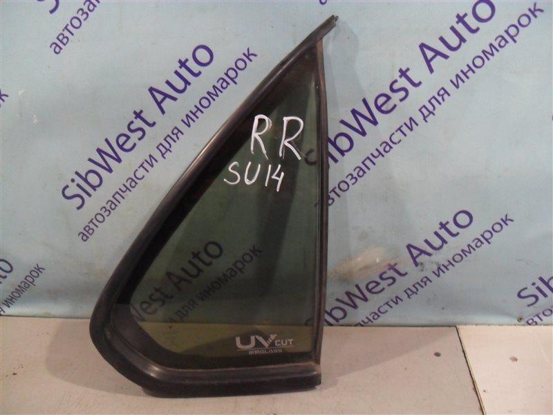 Форточка двери Nissan Bluebird SU14 CD20 1999 задняя правая